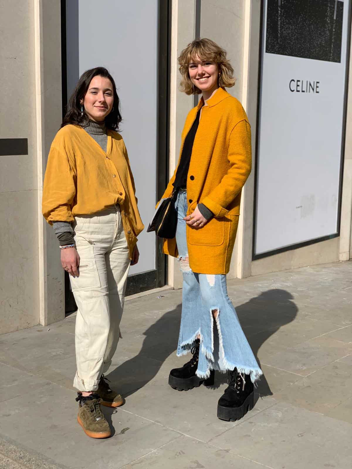 women in yellow, Bond Street, Mayfair, personal styling, Fashion Tours London