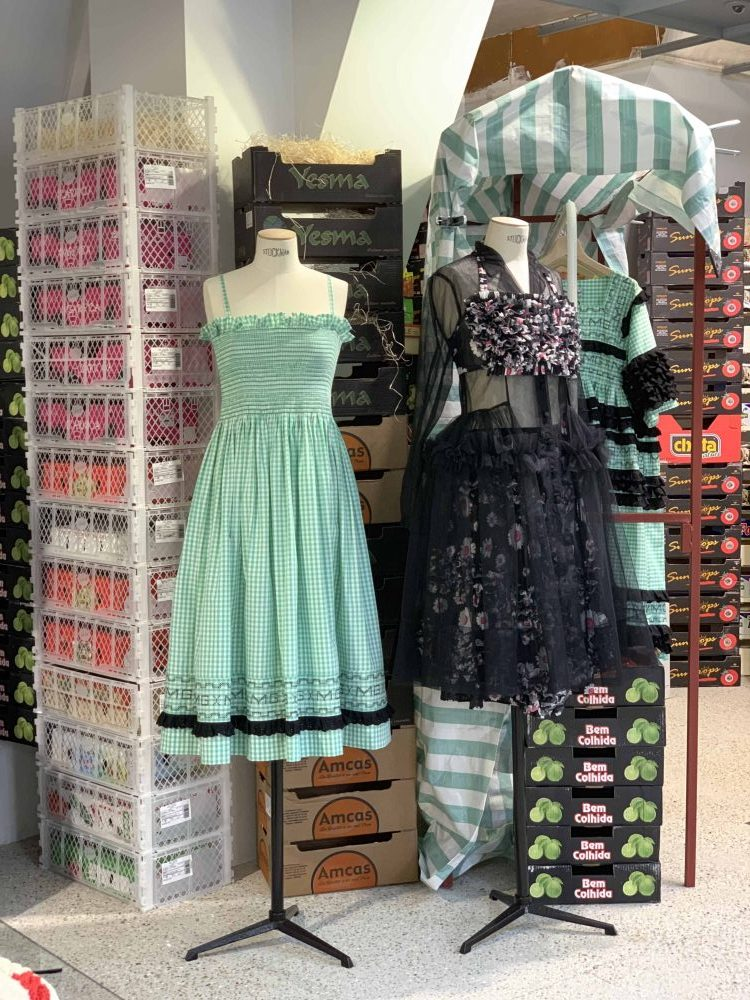 Dover Street Market, London, fashion designer Molly Goddard dresses and design for catwalk, featured in Latest in Design Tour