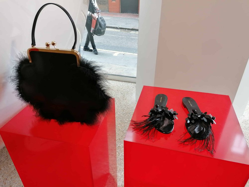 handbag and sandals by fashion designer Simone Rocha, Dover Street Market, Latest in Design Tour, Fashion Tours London