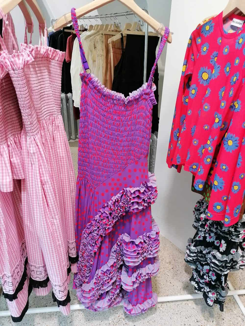 dresses by fashion designer Molly Goddard, Dover Street Market, Latest in Design Tour, Fashion Tours London