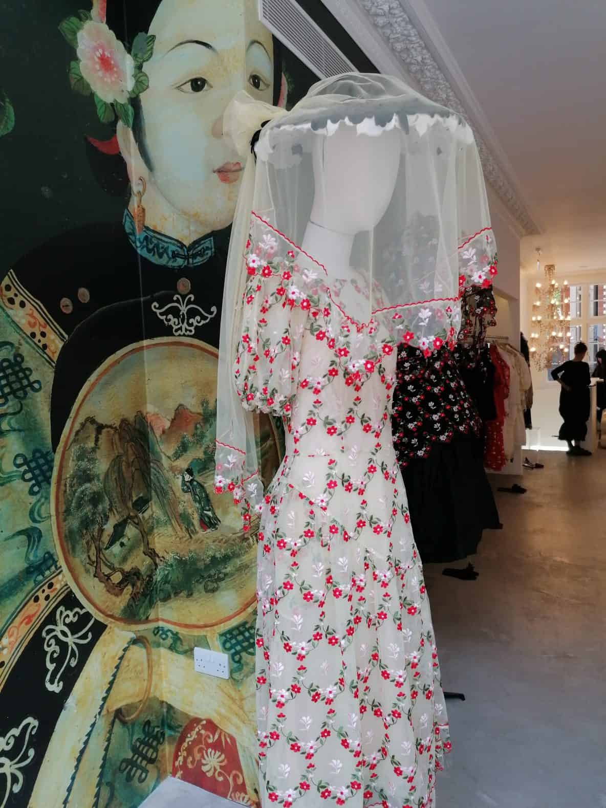 dress by fashion designer Simone Rocha, shop on Mount Street, Mayfair, Latest in Design Tour, Fashion Tours London