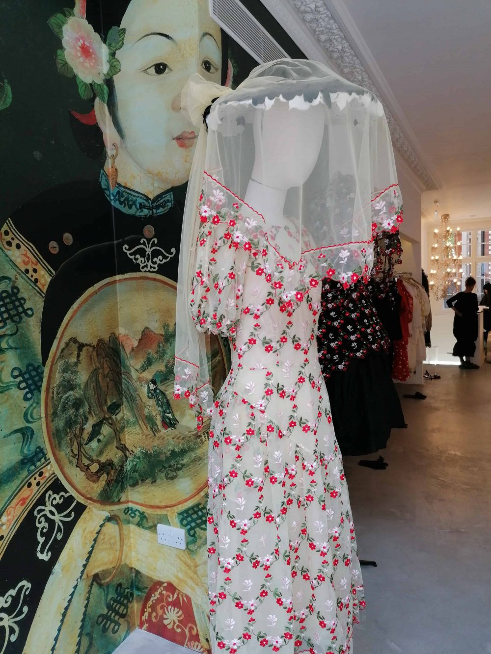 dress by fashion designer Simone Rocha, shop on Mount Street, Mayfair, Latest in Design Tour, Fashion Tours London