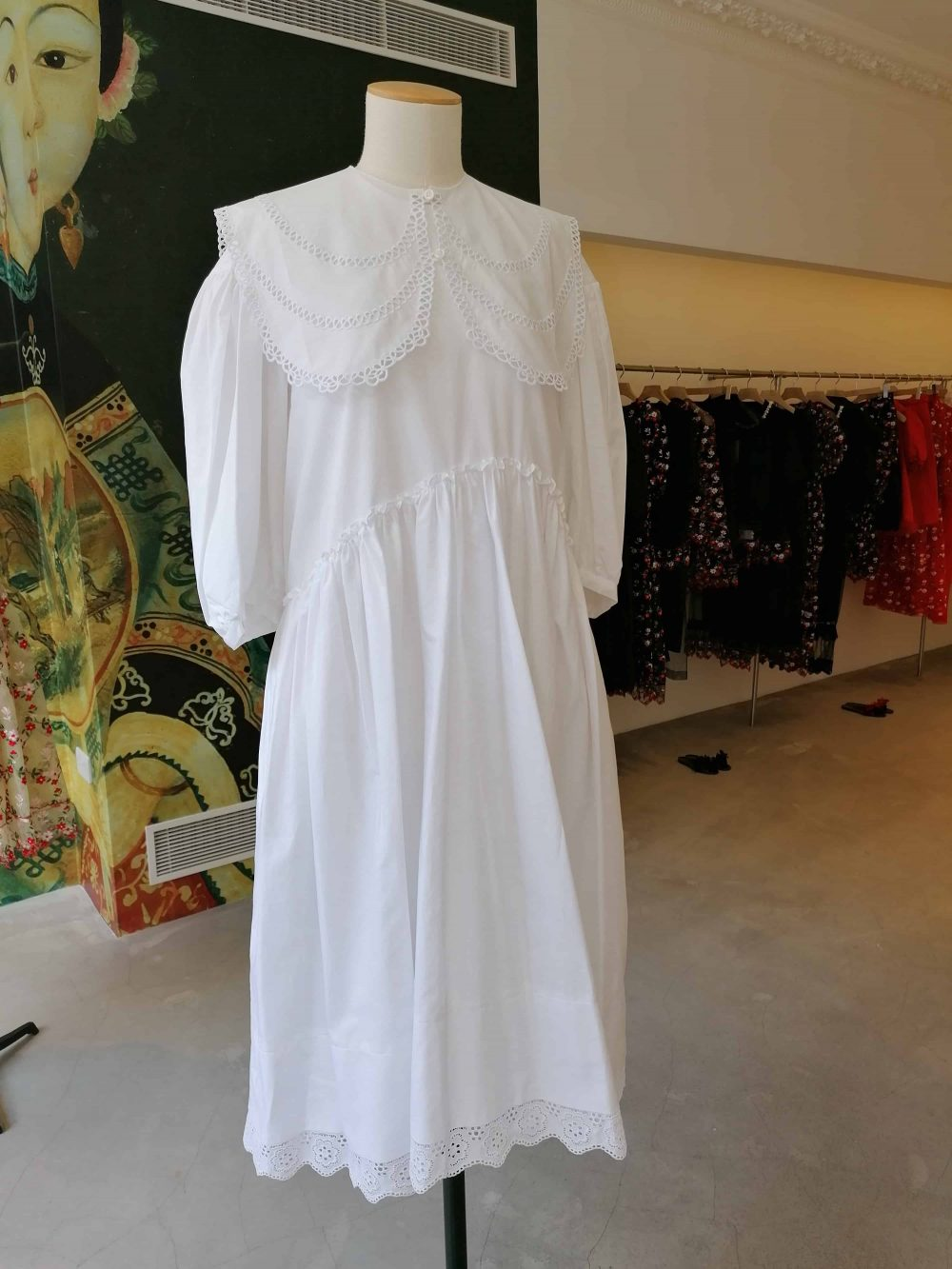 dress by fashion design Simone Rocha, shop on Mount Street, Mayfair, Latest in Design Tour, Fashion Tours London