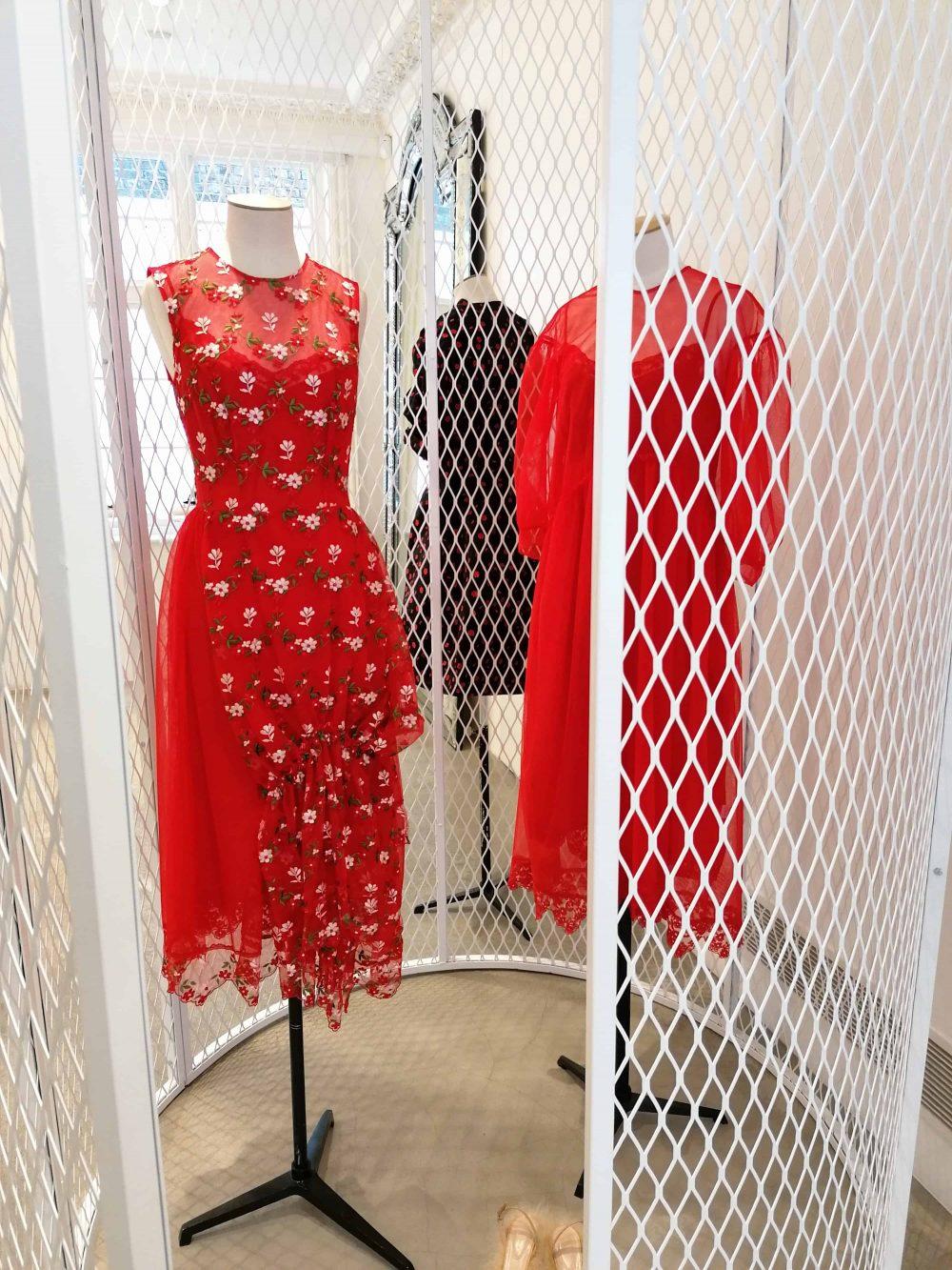 dresses by fashion designer Simone Rocha, shop on Mount Street, Mayfair, Latest in Design Tour, Fashion Tours London