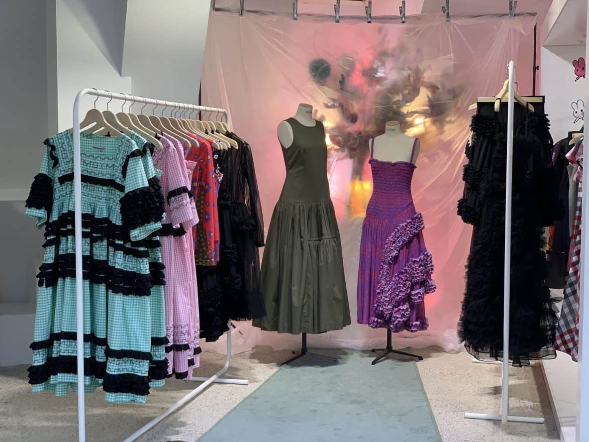 dresses by fashion designer Molly Goddard, Dover Street Market, Haymarket, Latest in Design Tour, Fashion Tours London, fashion walks for fashionistas