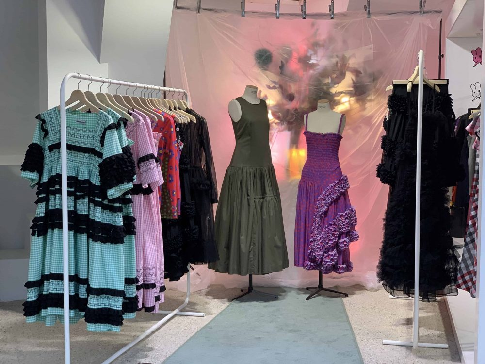 dresses by fashion designer Molly Goddard, Dover Street Market, Haymarket, Latest in Design Tour, Fashion Tours London, fashion walks for fashionistas