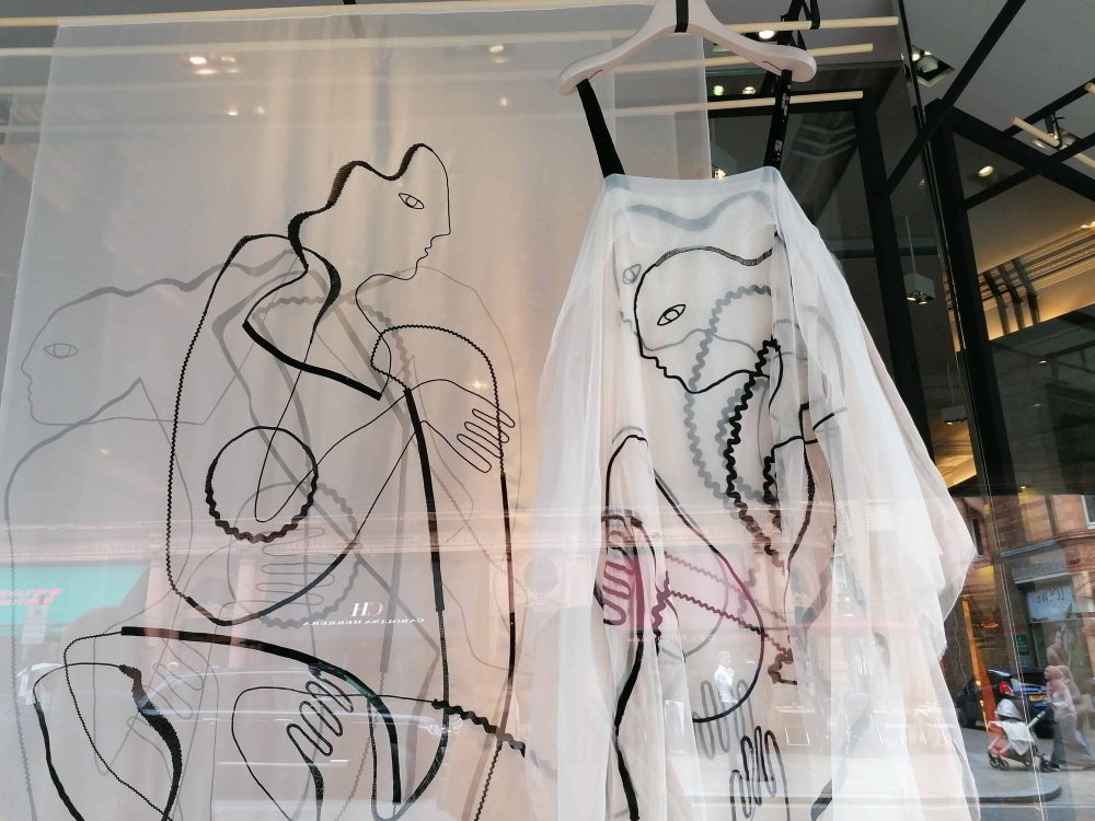 dress inspired by Le Corbusier by fashion designer Roksanda Illincic, Roksanda shop, Mount Street, Mayfair, Latest in Design Tour, Fashion Tours London, fashion walks and shopping tours for fashionistas