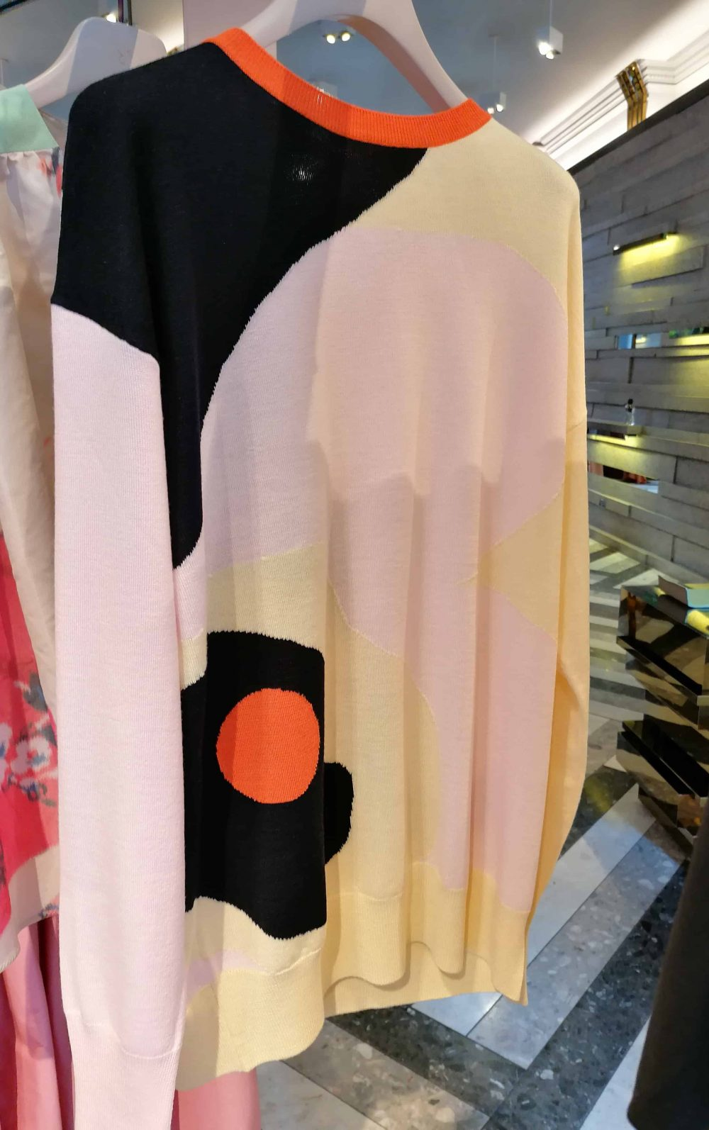 sweater by fashion designer Roksanda Ilincic, Roksanda shop, Mount Street, Mayfair, Fashion Tours London, fashion walks and shopping tours for fashionistas