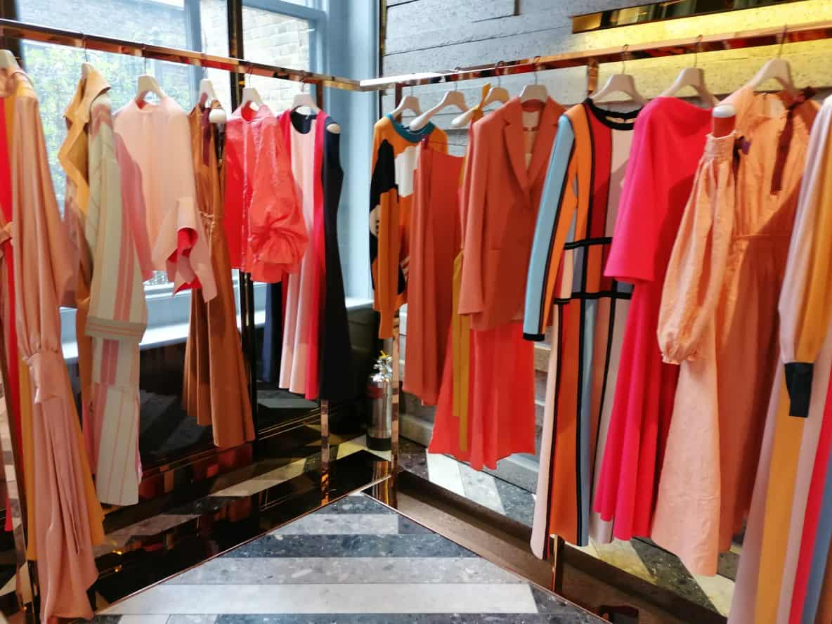 clothes by fashion designer Roksanda Ilincic, Roksanda shop, Mount Street, Mayfair, Latest in Design Tour, Fashion Tours London, fashion walks and shopping tours for fashionistas