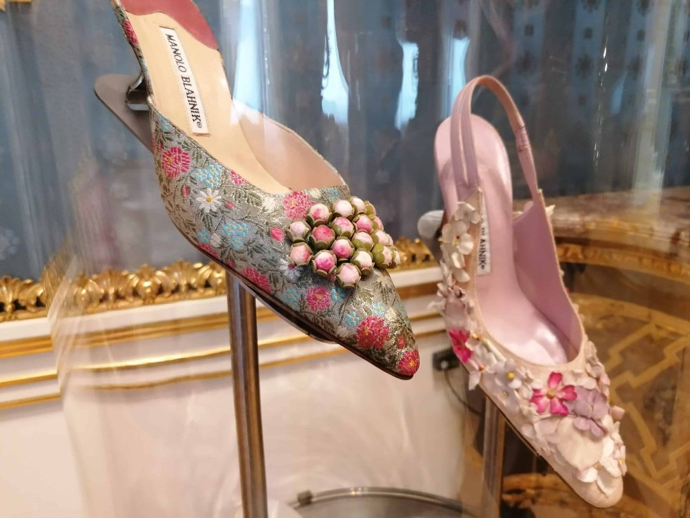 shoes by fashion designer Manolo Blahnik, Wallace Collection exhibition, Blahnik shop in Burlington Arcade, visited on Unique Boutiques Tour, Fashion Tours London, fashion walks and shopping tours for fashionistas