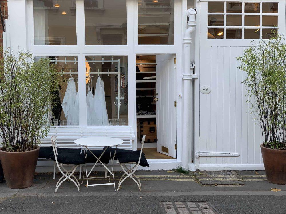 Egg shop on Kinnerton Street, Latest in Design, Maureen Doherty, Fashion Tours London, shopping tours London